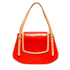 Louis Vuitton Red Leather Biscayne Bay GM Bag
